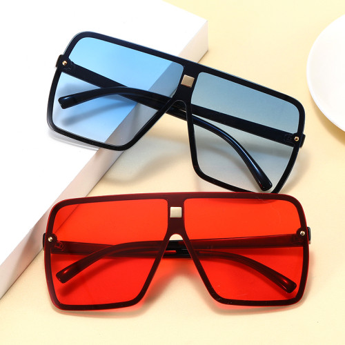 Oversize Mono Lens Shades Sunglasses