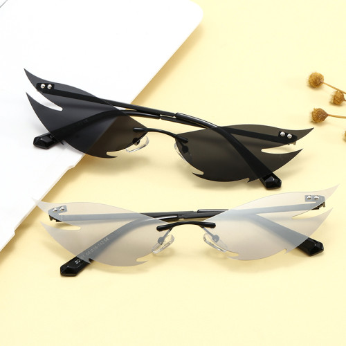 Fashion Small Women Rimless Sunglasses