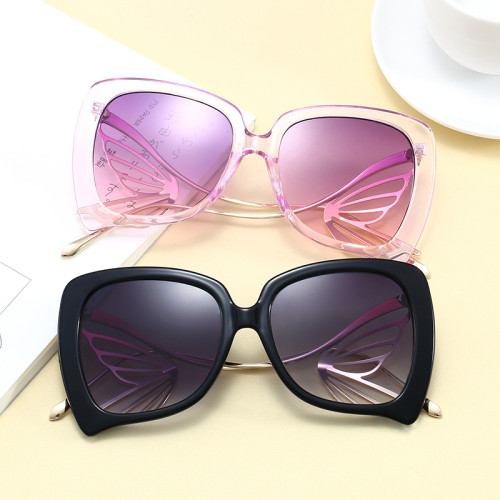 Big Frame Women Butterfly Shades Sunglasses