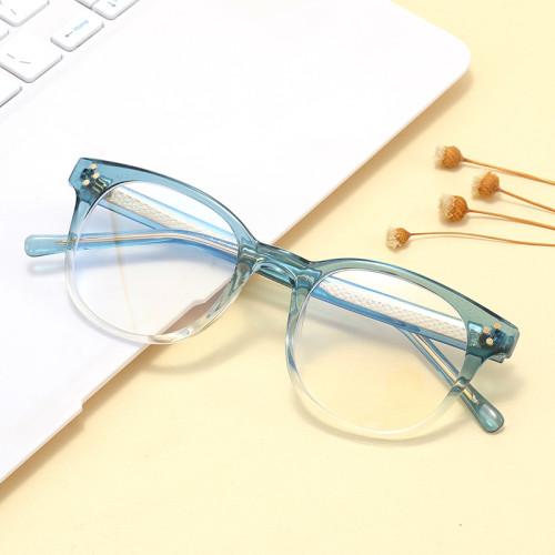 Retro Round Optical Frame Eyeglasses with Anti Blue Light Lenses glasses