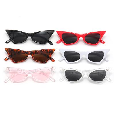 New Small Women Cateye Sun glasses Cheap Plastic Retro Shades Sunglasses