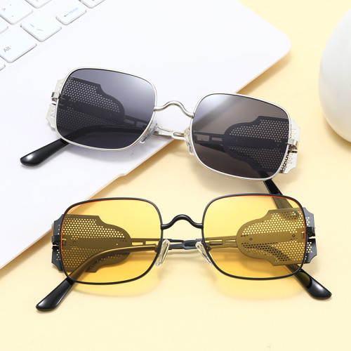Steampunk Square Metal Frame Sunglasses
