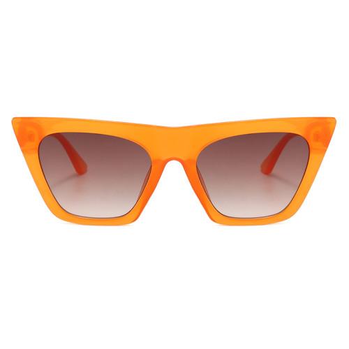 Fashion 2020 Flat Top Oversized Women Cat Eye Sunglasses