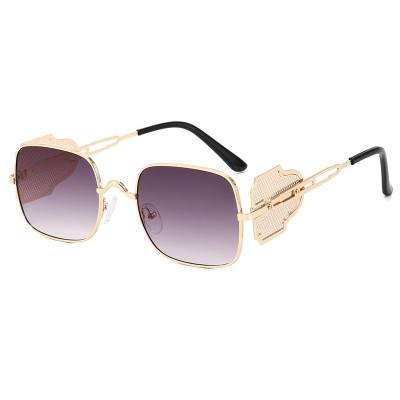 Steampunk Square Metal Frame Sunglasses