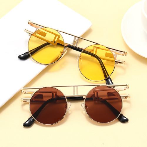 Retro Vintage Steam Punk Sun glasses Small Oval Metal Frame Sunglasses