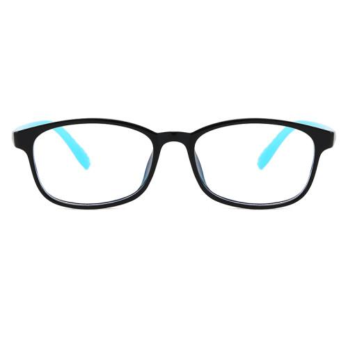 kids new cheap Rectangle wholesale eyewear tr90 frame Anti Blue Light glasses