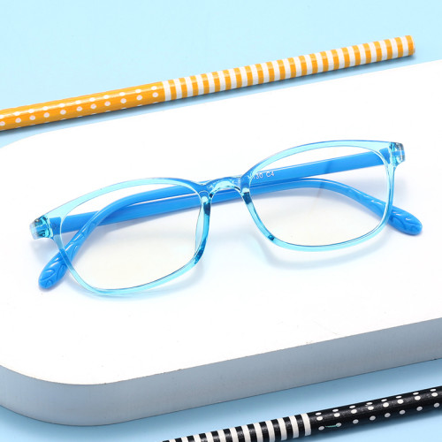 kids new cheap Rectangle wholesale eyewear tr90 frame Anti Blue Light glasses