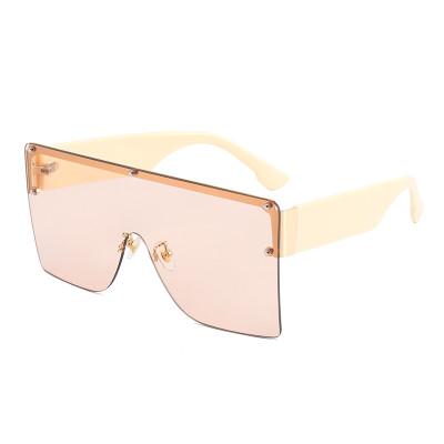 Fashion 2021 Sun glasses Flat Top One Piece Lens UV400 Oversize Shades Sunglasses