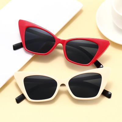 Fashion 2021 New Women Cateye Sun glasses Cheap Plastic Retro Sunglasses