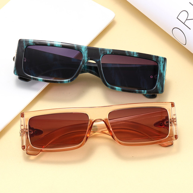 Luxury Vintage Flat Top Rectangle Sunglasses