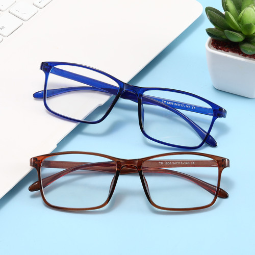 Light Weight Cheap Rectangle TR90 Frame Anti Blue Light Glasses