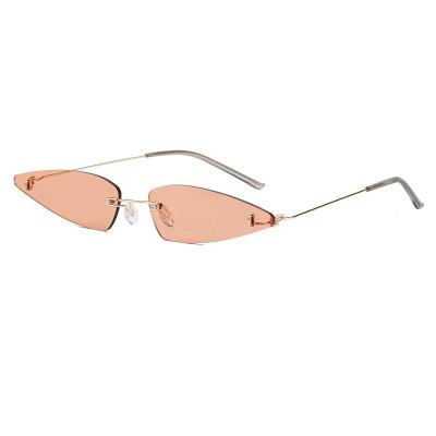 Small Triangle Style Sun glasses Rimless Women Fashion Sunglasses
