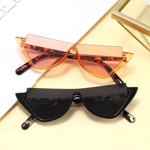 Women Brand Designer Sun glasses Half Frame Shades Small Cat Eye Sunglasses