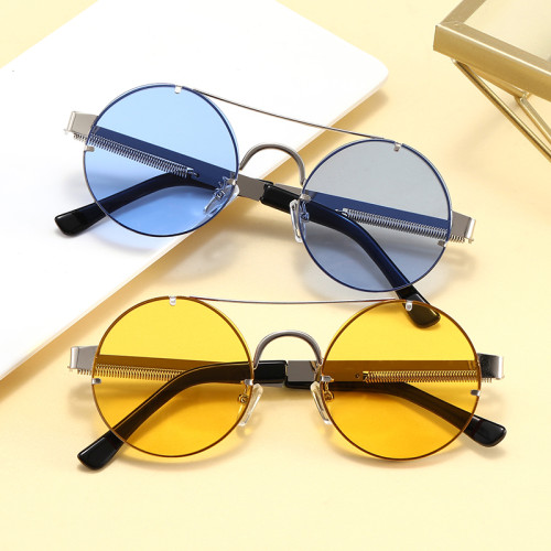 Anti-UV400 Brand Designer Metal Frame Round Shades Sunglasses