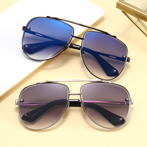 Anti-UV400 Men Women Brand Designer Metal Frame Round Shades Sunglasses