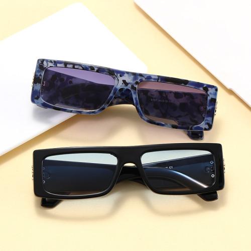 INS Fashion 2021 Retro Vintage Solid Plastic Small Rectangle Sunglasses