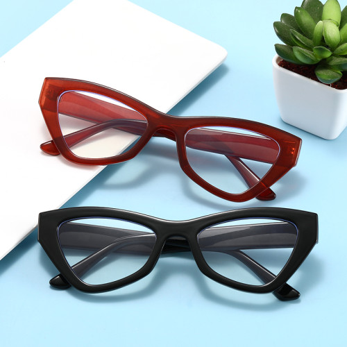 Elegant Women Eyeglasses Office Lady Cat Eye Blue Light Blocking Computer Glasses