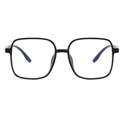 Oversized Square Eyeglass TR90 Frames Anti Blue Light Glasses