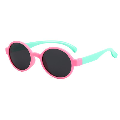 Round Polarized uv400 Blocking Sunglasses For Kids Classic Eyewear