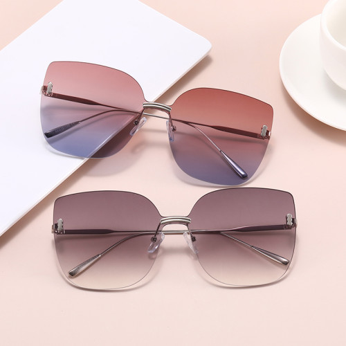 Fashion 2021 Gradient Women Diamond Cut Lenses Shades Sunglasses