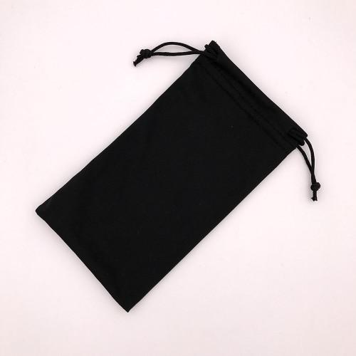 Black Microfiber Glasses Bag