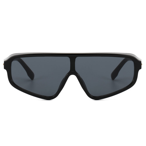 One Piece Lens Flat Top Shield Shades Sunglasses