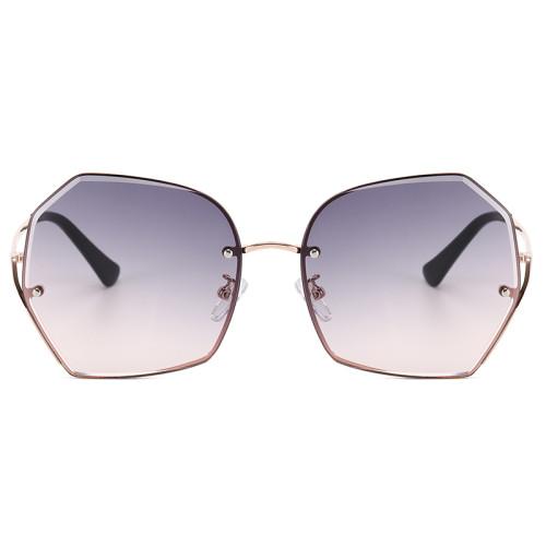 Women UV400 Vintage Metal Frame Outdoor Sunglasses