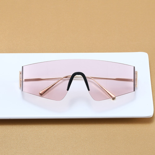 Oversize One Piece Lens Shades Sunglasses