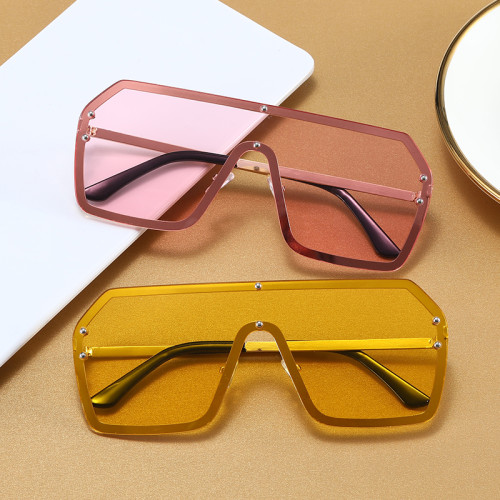 Fashion 2021 One Piece Lens Men Women UV400 Shades Sunglasses