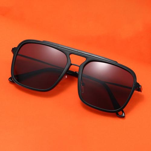 Fashion Metal Frame UV400 Gradient Shades Sunglasses