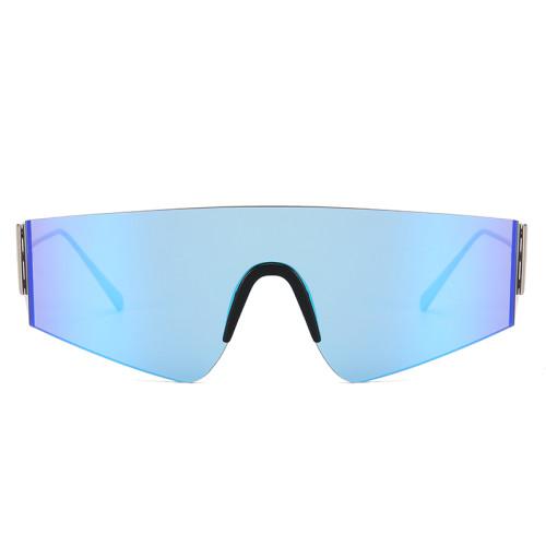 Oversize One Piece Lens Shades Sunglasses