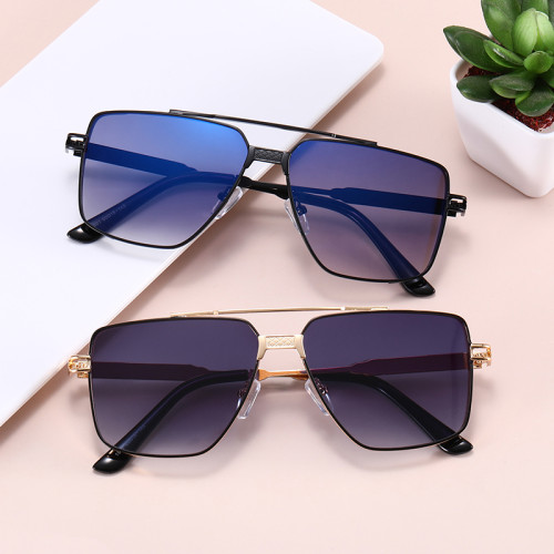 Fashion Metal Frame Sun glasses UV400 Gradient Shades Sunglasses