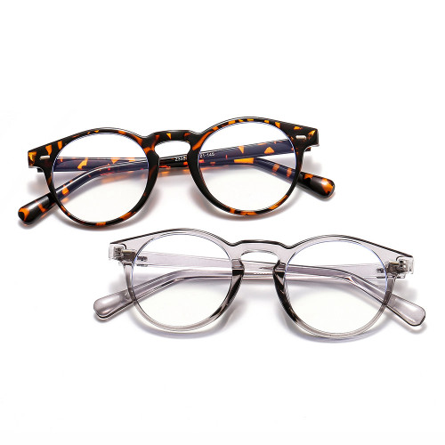 Retro Vintage Round Optical Frame with Anti Blue Light Lenses Eyeglasses