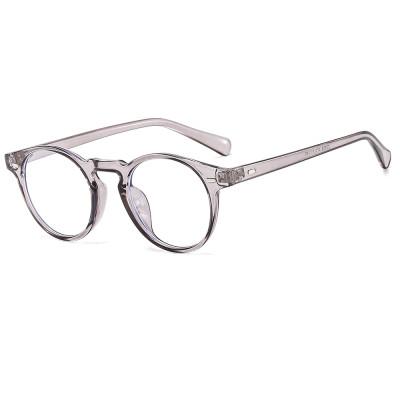 Retro Vintage Round Optical Frame with Anti Blue Light Lenses Eyeglasses