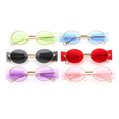 Fashion Steampunk Sun glasses UV400 Round Metal Frame Sunglasses