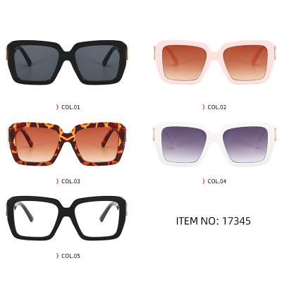 Fashion 2021 Square Oversized Women Gradient Shades Sunglasses