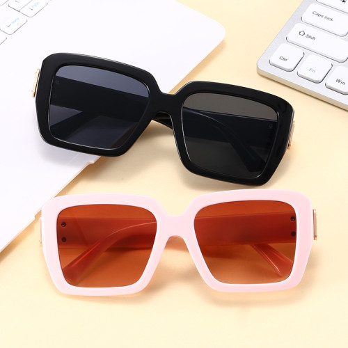 Fashion 2021 Square Oversized Women Gradient Shades Sunglasses
