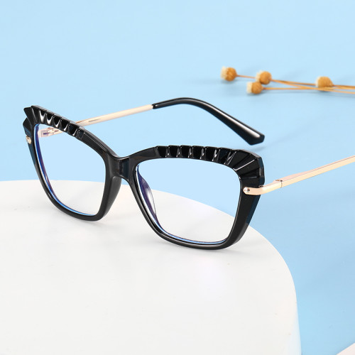 Women Cat Eye Blue Light Blocking Glasses Spring Hinges Lady Office Computer Eyeglasses
