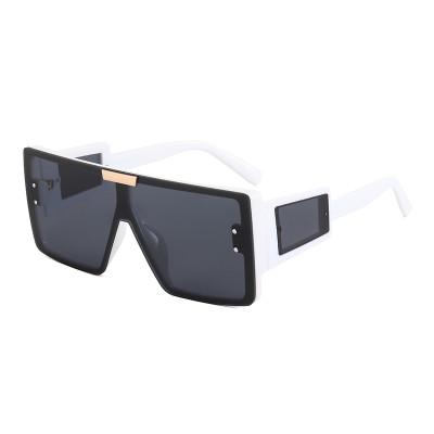 UV400 Big Frame Flat Top Square Oversized Shades Sunglasses