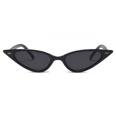 Leopard Cateye Sunglasses Women Small Triangle Rivet Cat Eye Sunglasses