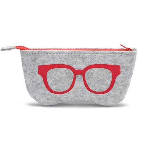 Non-Woven Fabric Zipper Glasses Pouches