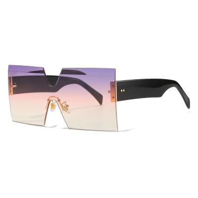 Square Oversized Rimless Sunglasses