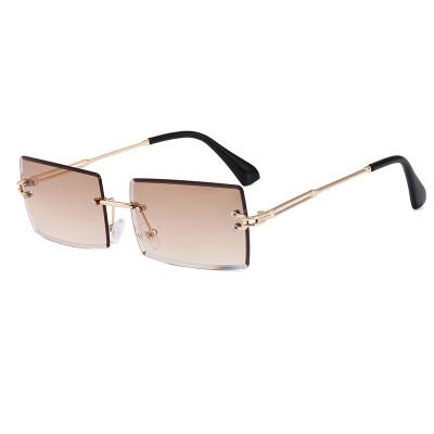 Rectangle Rimless Sunglasses