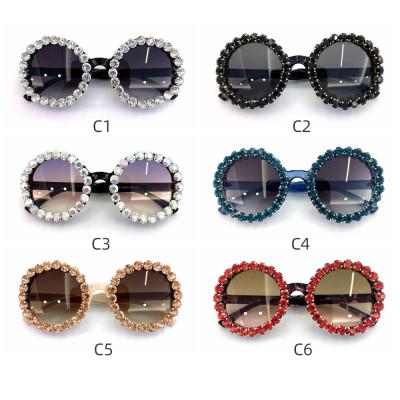 Round Sparkling Sunglasses