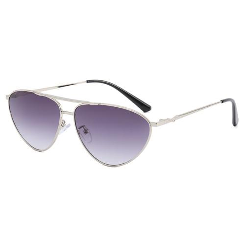 Metal Oval Cat Eye Sunglasses