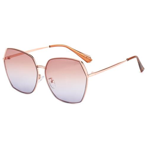 Fashion Women Round Vintage Metal Frame Outdoor Sunglasses
