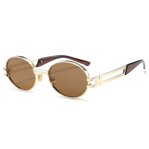Retro Oval Metal Sunglasses