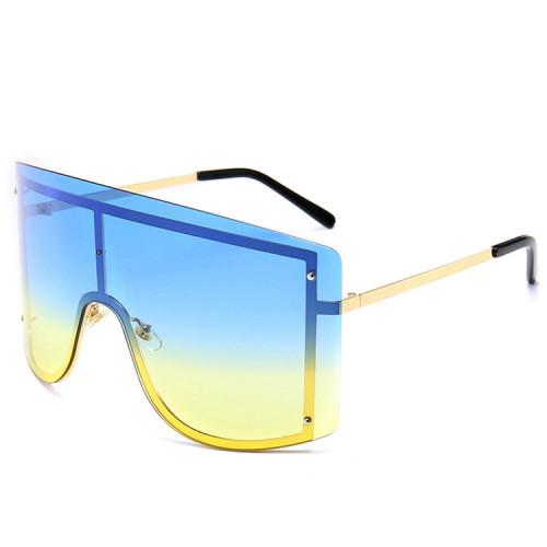 Fashion Women Sun glasses Oversized Designer Shield Sunglasses