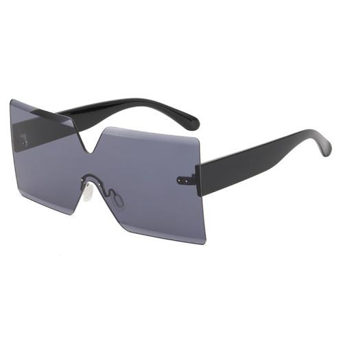 Fashion Women Oversized Rimless Sunglasses