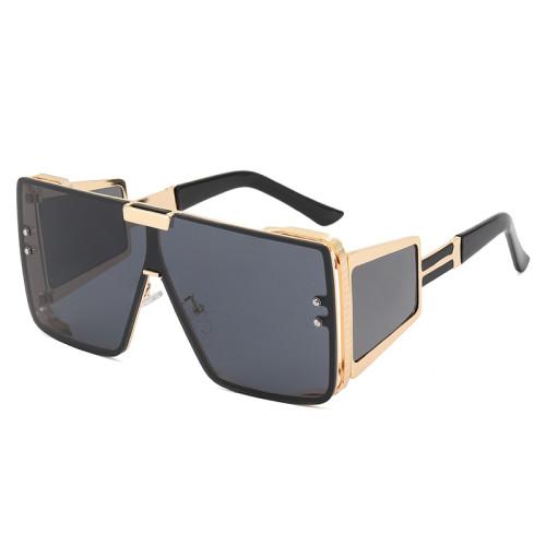 Big Frame Flat Top Oversized Sunglasses